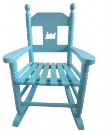 Rocking chair blue